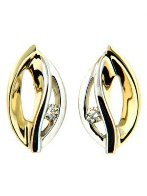 Ohrstecker 585/- Gold Brillant weiß Brillant 1,1cm Glänzend 0.0400 Karat Orolino mehrfarbig