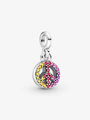 Pandora Me 799424C01 Charm-Anhänger Damen Peace Zirkonia Sterling-Silber