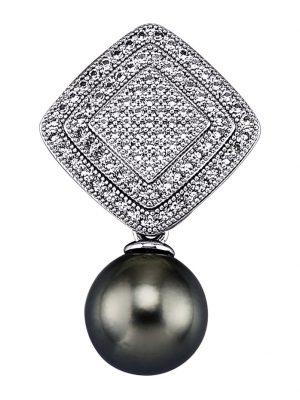 Anhänger Diemer Perle Grau