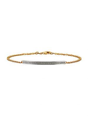 Ankerarmband Diemer Gold Weiß