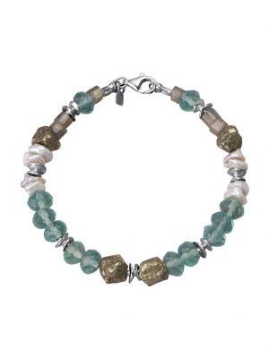 Armband Roman Glass Silberfarben