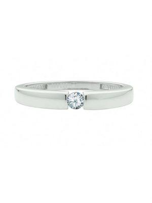 Damen Goldschmuck 585 Weißgold Ring mit Zirkonia 1001 Diamonds silber