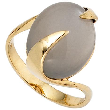 SIGO Damen Ring 585 Gold Gelbgold 1 Mondstein Goldring