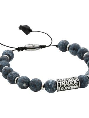 True N'Raven TGB009 Armband Herren Achat Blau Stainless Steel
