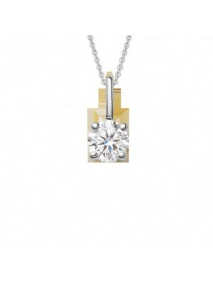 Damen Schmuck Anhänger aus 950 Platin Diamant mit Zertifikat One Element silber