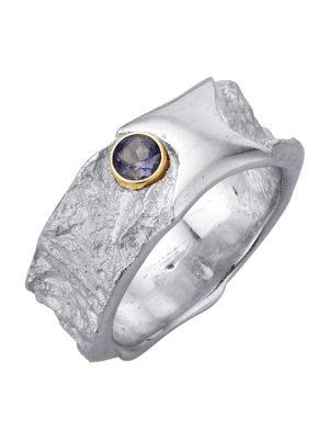 Damenring mit Iolith Diemer Farbstein Silberfarben