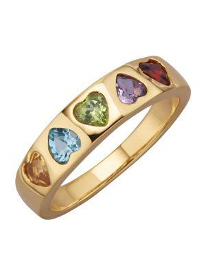 Herz-Ring mit Farbsteinen Diemer Highlights Multicolor