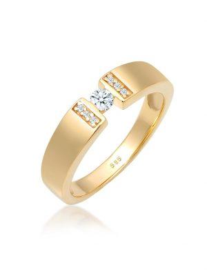 Ring Verlobung Diamant 0.14 Ct. 585 Gelbgold DIAMORE Gold
