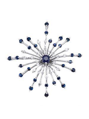 Anhänger mit Saphiren Diemer Farbstein Blau