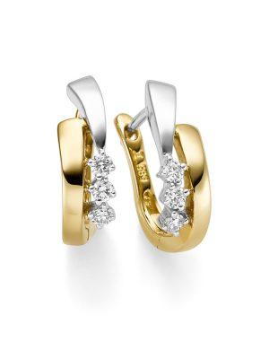 ELLA Juwelen Creolen - V119-O 585 Gold, Zirkonia bicolor