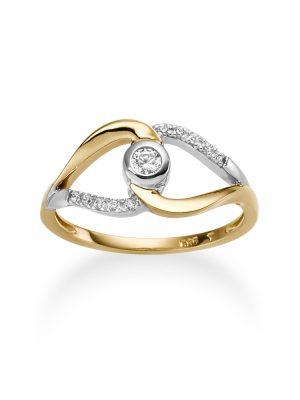 ELLA Juwelen Ring - 54 585 Gold, Zirkonia bicolor