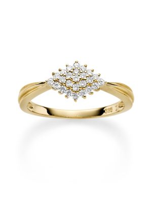 ELLA Juwelen Ring - 54 Zirkonia gold