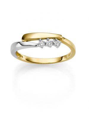 ELLA Juwelen Ring - 58 585 Gold, Zirkonia gold
