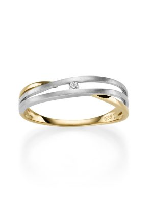 ELLA Juwelen Ring - V11-R Zirkonia bicolor