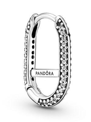 Einzelne Creolen - Pavé Link Earring - Pandora ME - Pandora Silberfarben