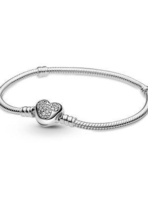 Pandora Armband - Disney Mickey Mouse Heart - 599299C0 925 Silber, Zirkonia silber
