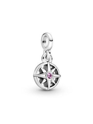 Pandora Charm - Compass - 798975C01 925 Silber, Swarovski Kristall silber