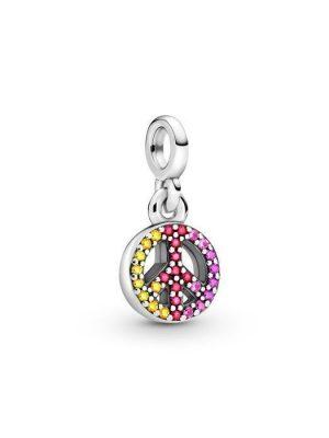 Pandora Charm - Peace - 799424C01 925 Silber, Zirkonia, Swarovski Kristall silber