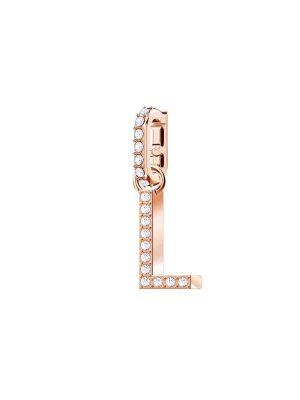 "Swarovski Charm - Remix Charm Alphabet ""L"" - 5437618 Swarovski Kristall, Metall roségold"
