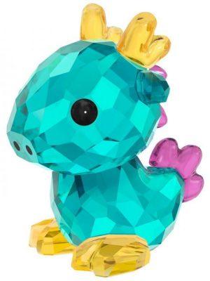 Swarovski Kristall Figuren - Sternzeichen Majestätischer Drache - 5302554 türkis